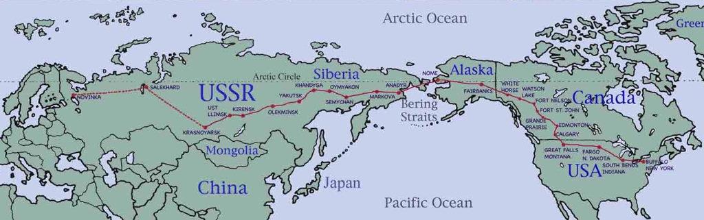 Карта трассы АЛСИБ.
