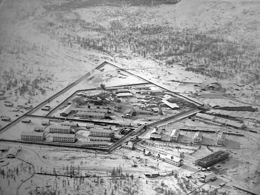 Жилая часть поселка Арарат для сотрудников МВД. 1976 год.