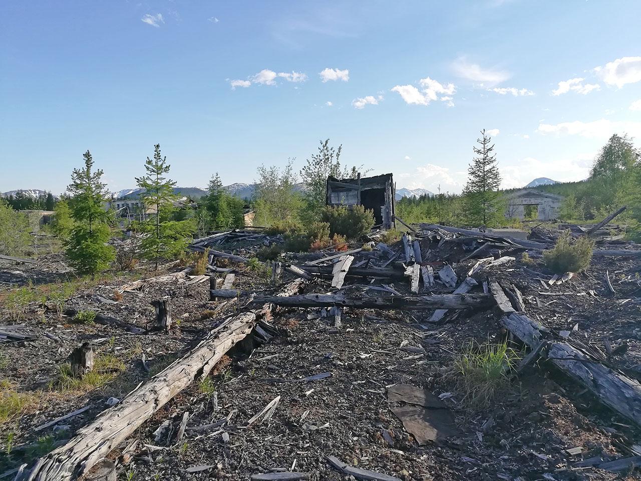 Посёлок Арарат. Разрушенные цеха. Фото из архива Елены Полищук. 2018 год.