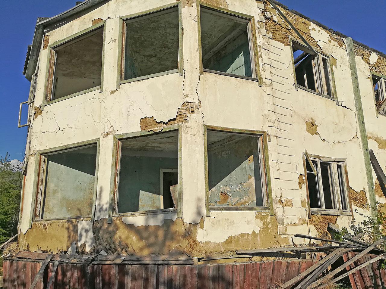 Эркерная часть здания МСЧ. Фото из архива Елены Полищук. 2018 год.