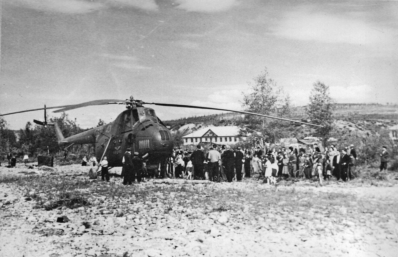 1-й вертолёт на Хасыне, 1959 год.