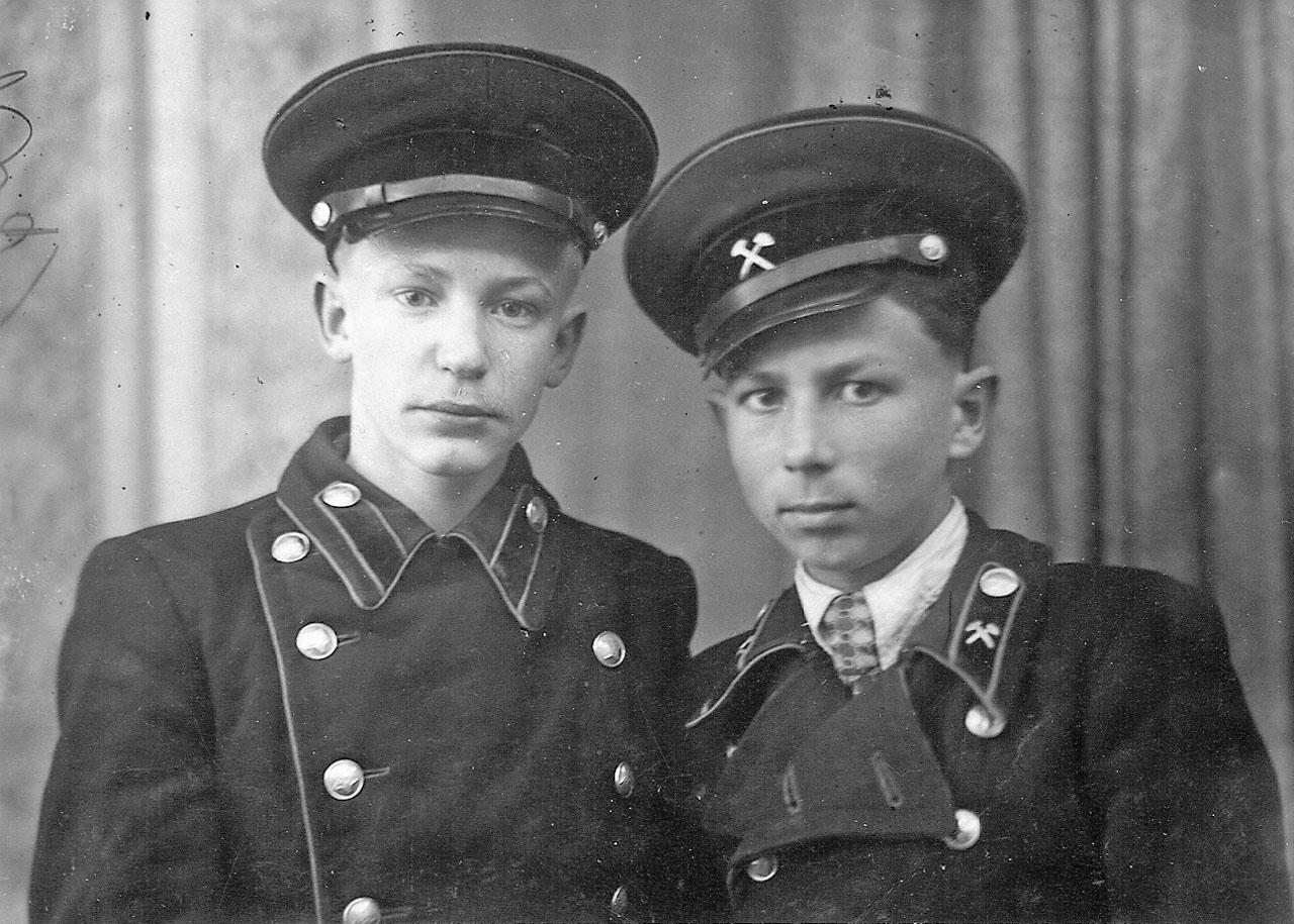 А. Токарев и И. Полянский. МГГТ. Магадан, весна 1952 года.
