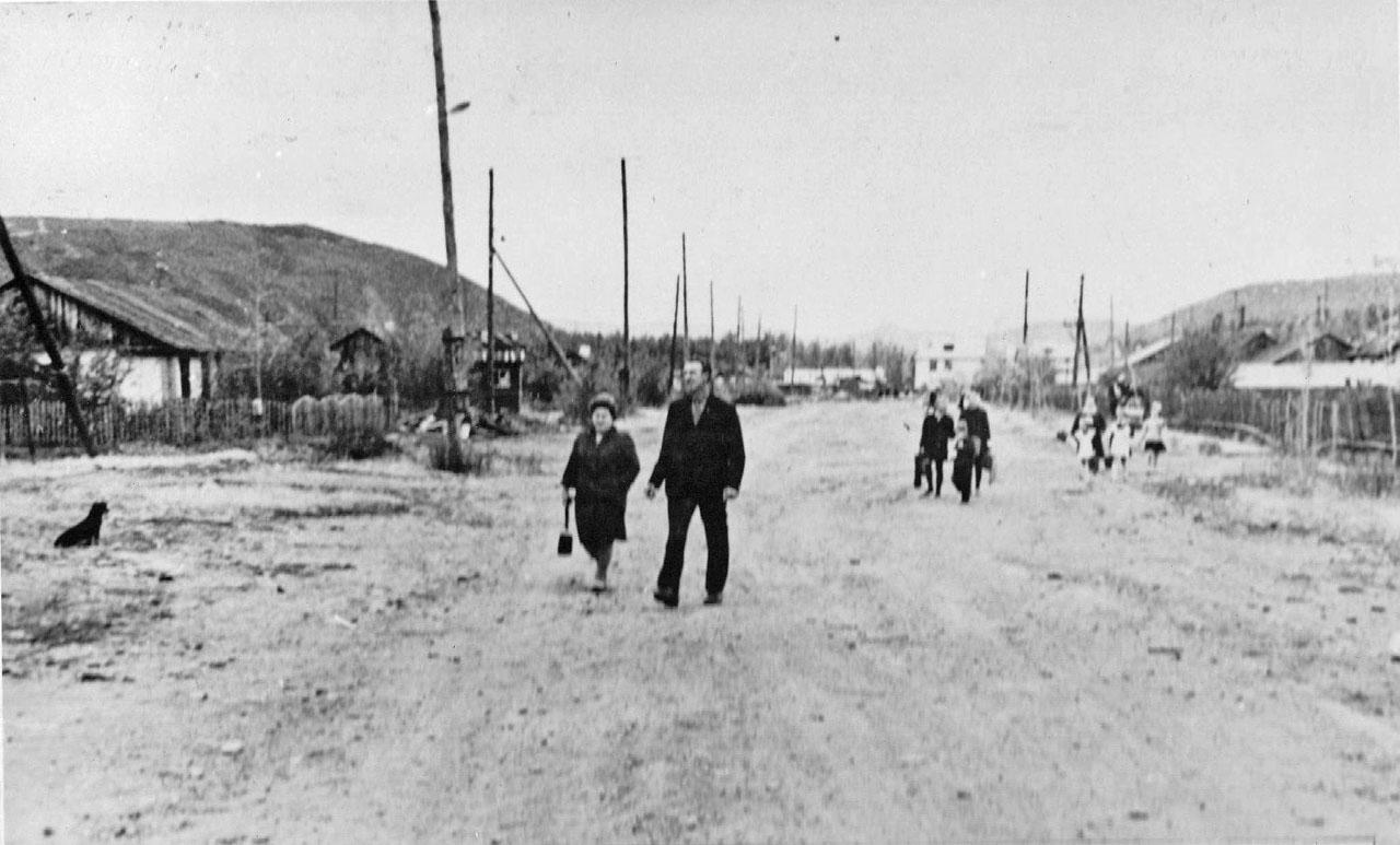 Хасын. Будущая улица Геологов. 1968 год.