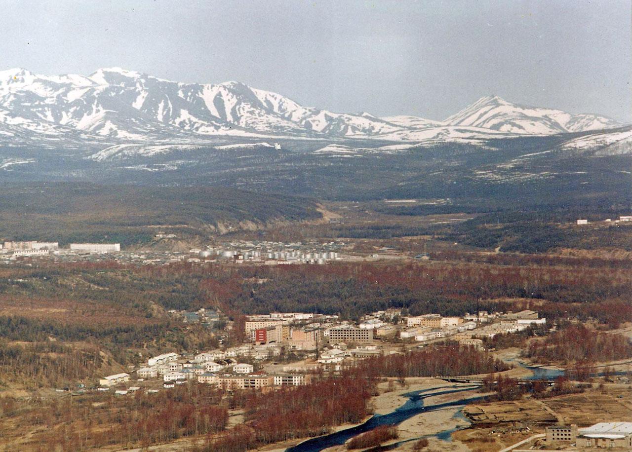 Хасын, Вид с Южного хребта, 1990 год.