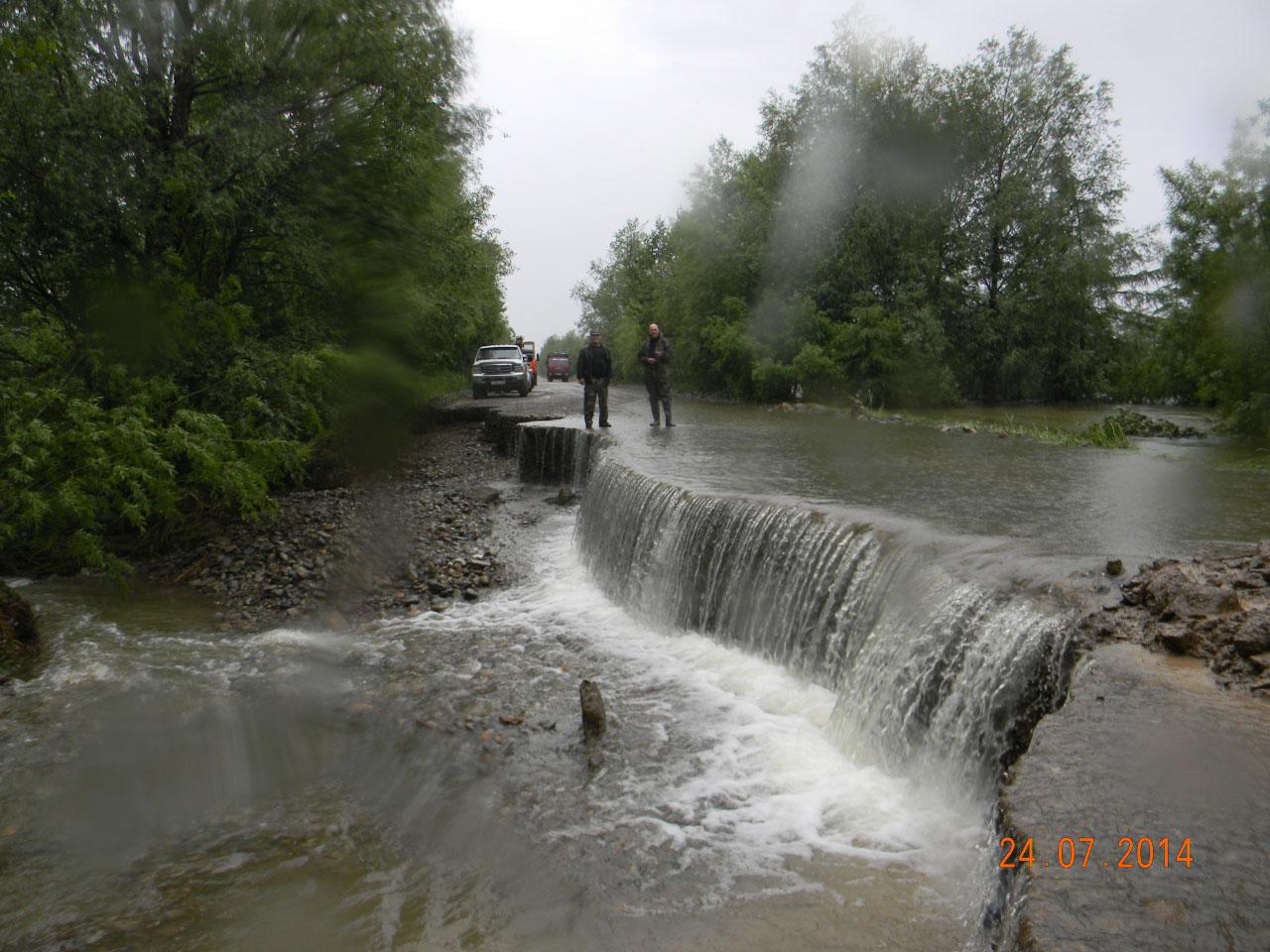 Дорога на Клёпку. Разрушение дороги.