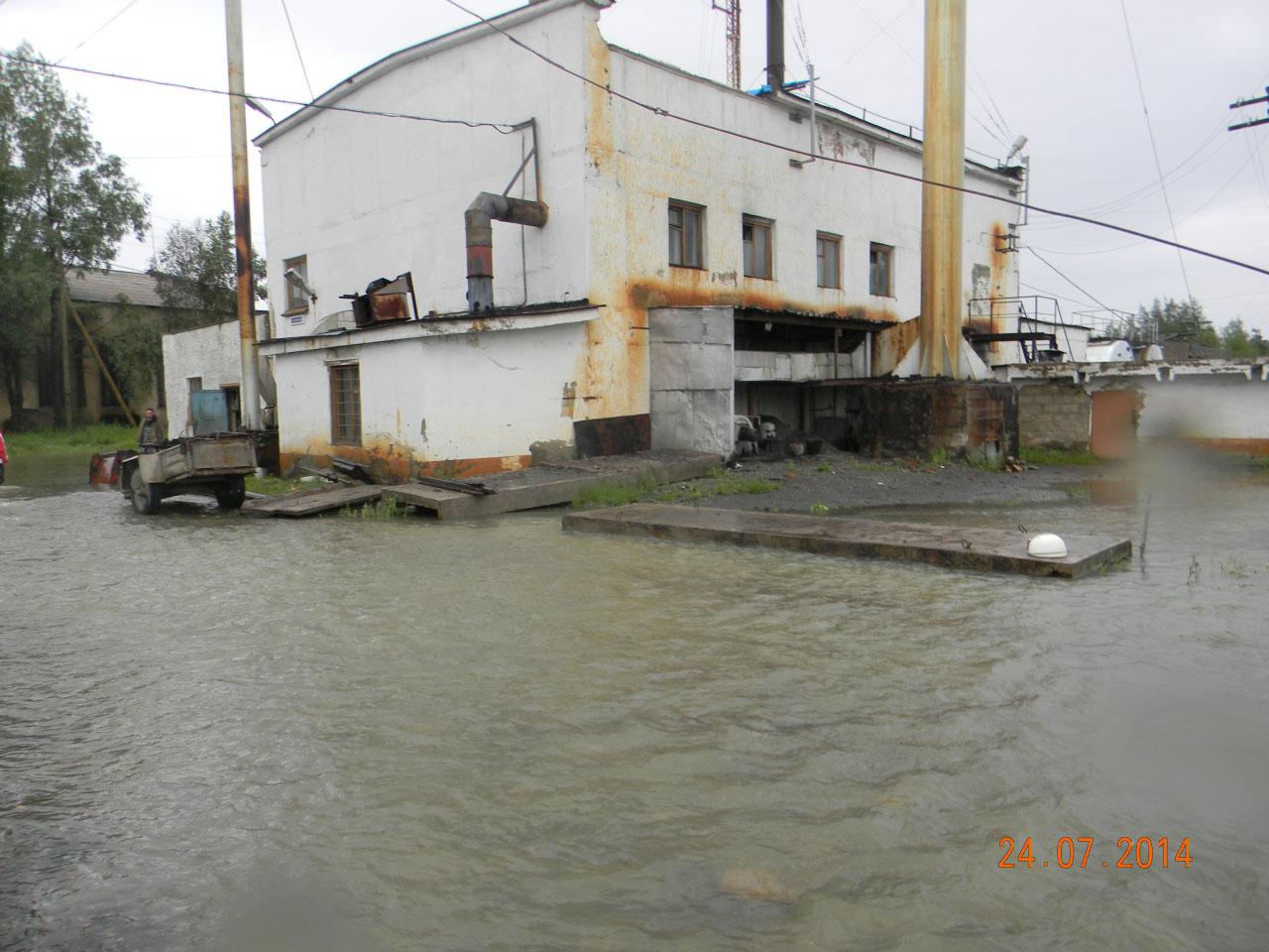 Котельная поселка Клёпка в воде.