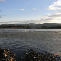 Река Дебин разлилась.