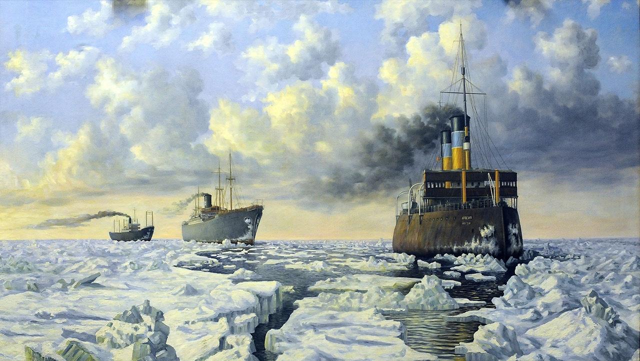 Картина «Сталинский караван», 1939 год.