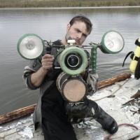 Бабиков Денис с подводным боксом.