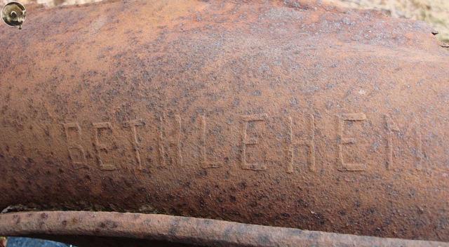 Фрагмент с надписью «BETHLEHEM USA-L.» - Бетлехем это город в США где находится судоверфь спускавшая пароходы типа Либерти на воду.
