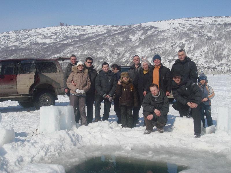2009 год. Первое погружение на Выборг Магаданского подводного клуба 59-ПАРАЛЛЕЛЬ.