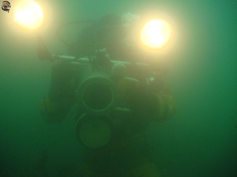 Снимаю на камеру «Выборг» под водой.