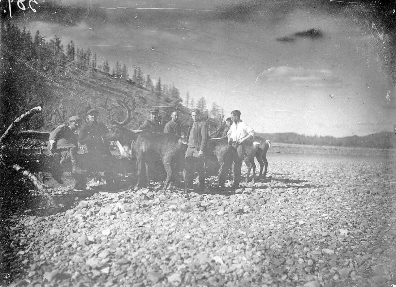Изыскатели Колымской трассы 1933 год.