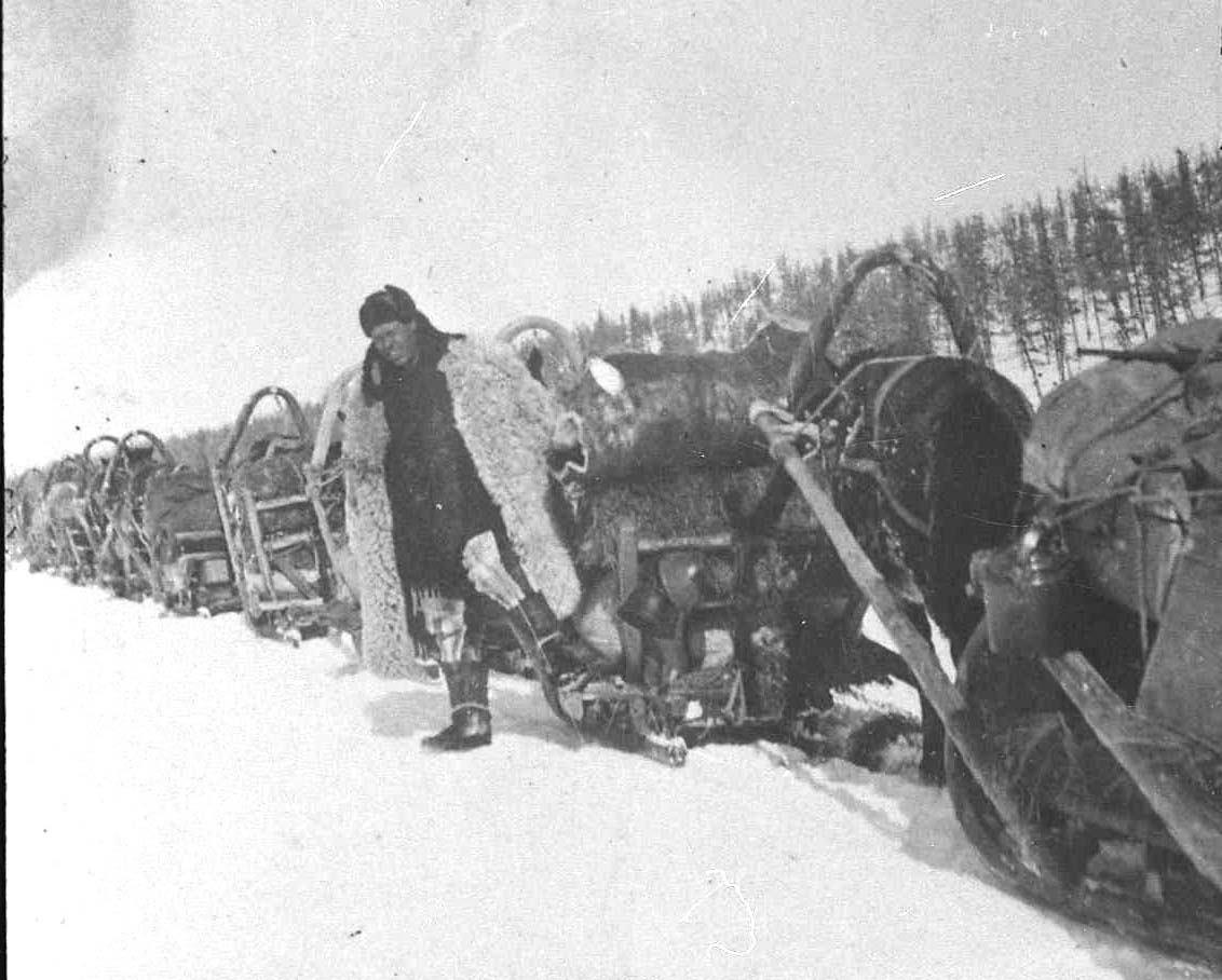 Доставка грузов по зимнику. 30-е годы ХХ-го века.