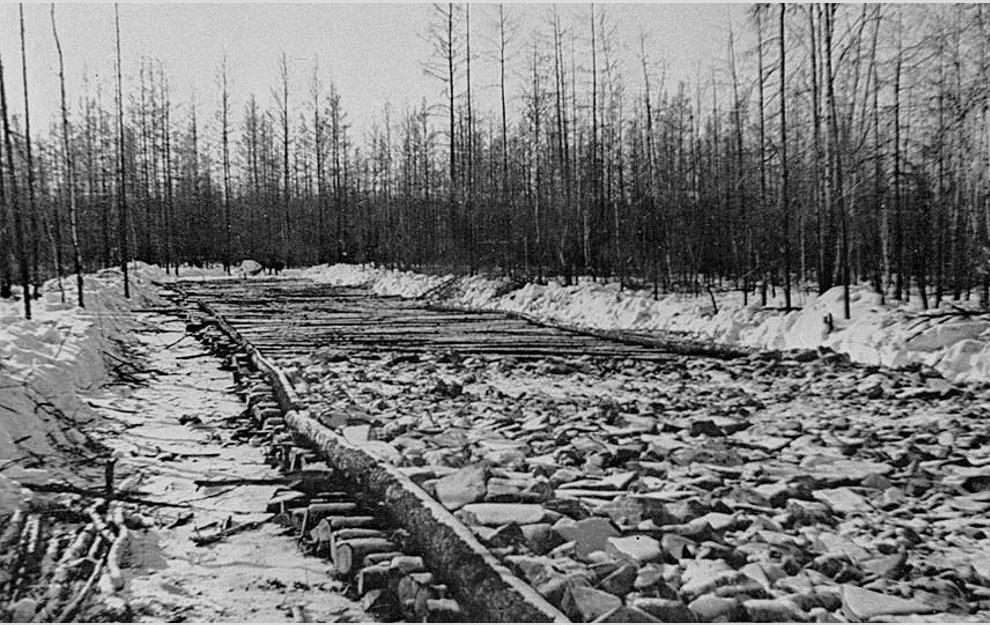 Строительство Колымской трассы. 1932 год.