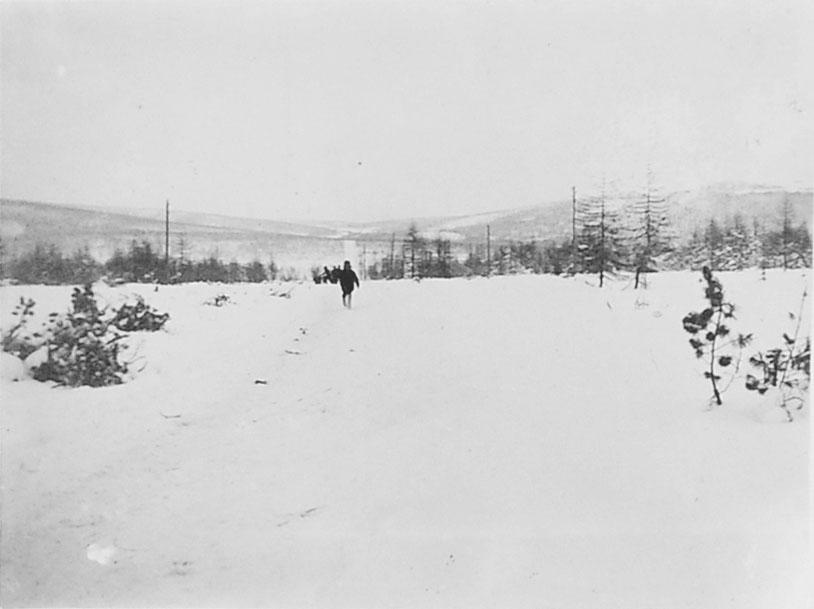 Дорога из Нагаево в Магадан и продолжение её на Среднекан. Начало 1930-х годов.