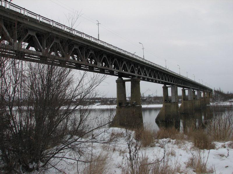 Вот так выглядел мост через Колыму после реконструкции 1952 года