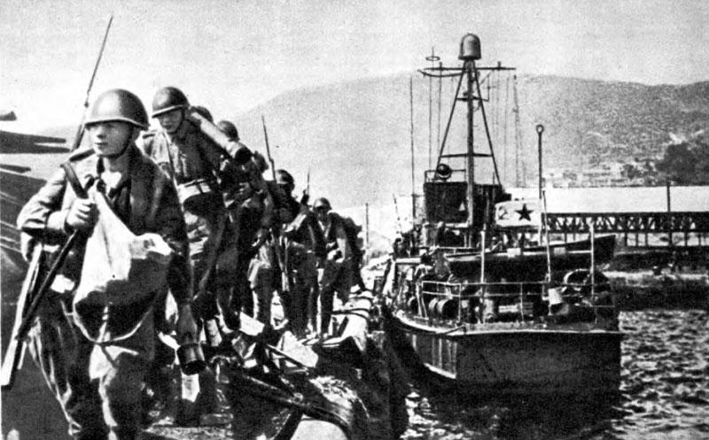 Высадка морских десантов в портах Северной Кореи и завершение ее освобождения в 1945 г.
