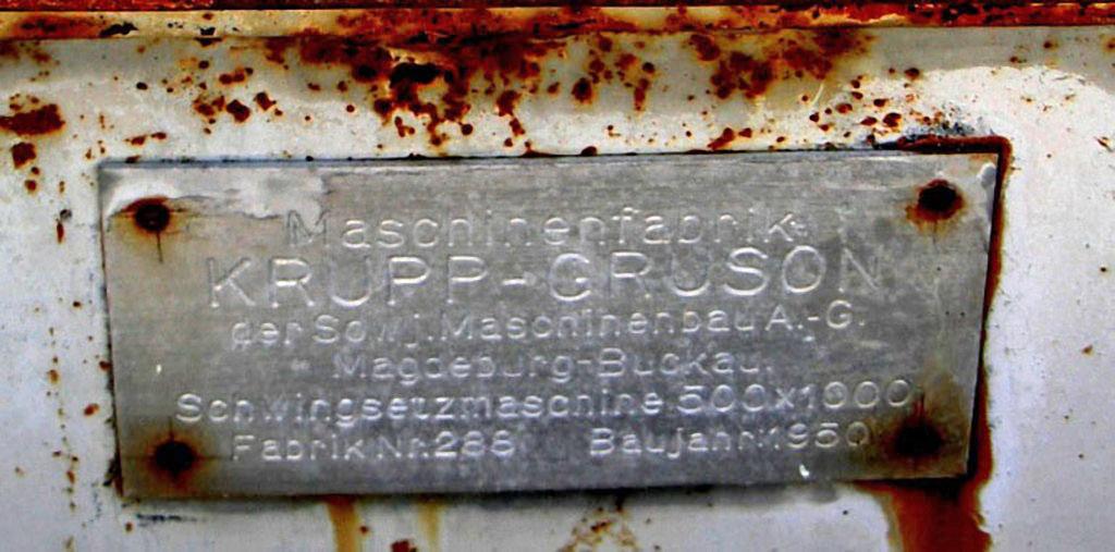 Табличка на найденном агрегате. Из архива Андрея Лисицкого.