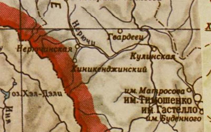 Район Хениканджи. Карта 1955 года.