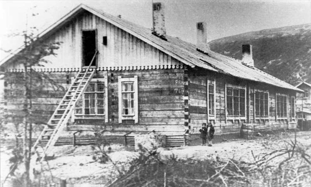 Восточно-Эвенская (Нагаевская) культбаза. Одно из зданий.