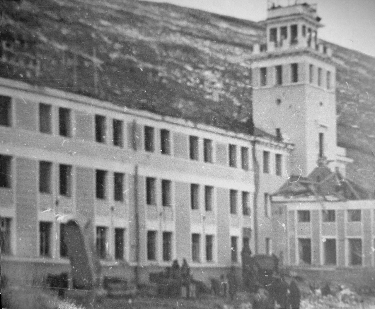 Управление пароходства. Магаданский торговый порт. Последствия взрывов пароходов 19 декабря 1947 года.