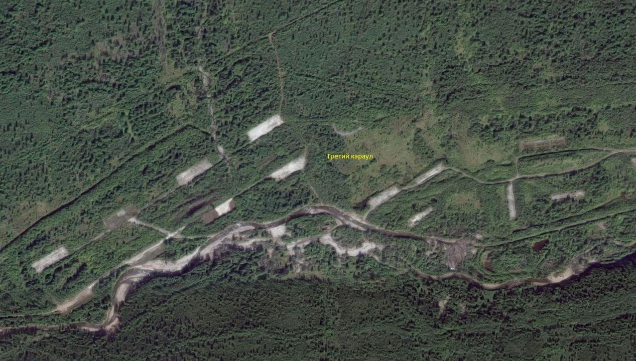 Спутниковый снимок территории базы ВВ. 3 караул.