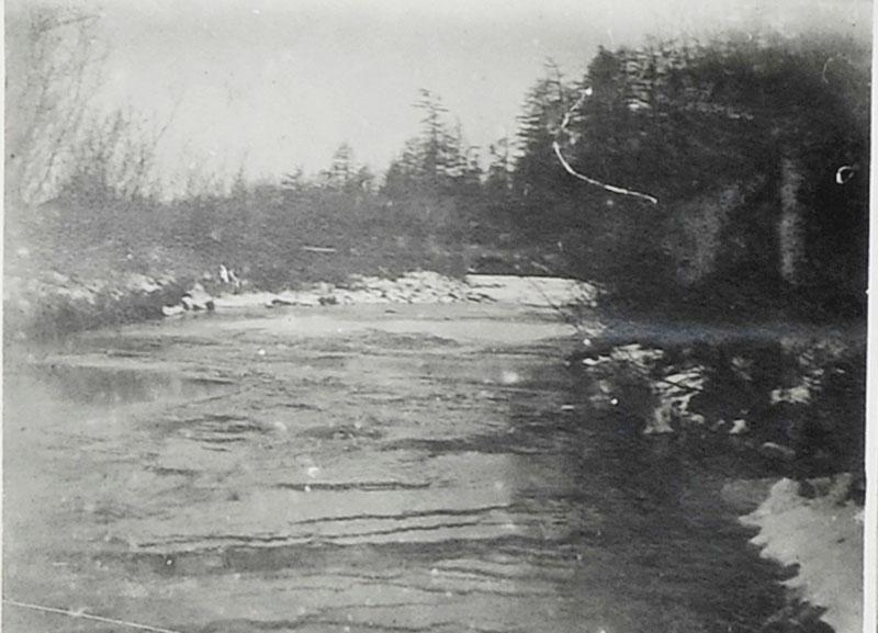 Ручей Весёлый. 300 метров от устья. 1932 год.