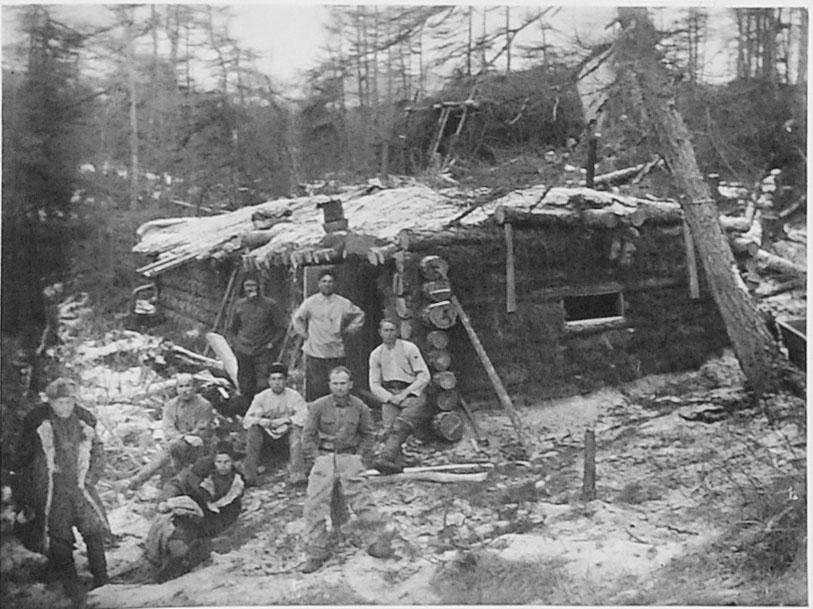 Землянка лесорубов на ручье Весёлом. 1932 год.