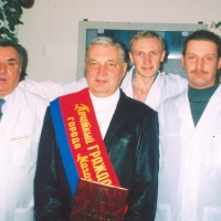На снимке: слева направо: Кошелев В.А., Горячкин В.Г., Ковалев П.П., Симонов А.А.
