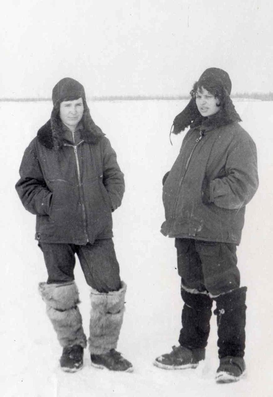 Зима 1971 года. Валентина Курилкина и Татьяна Смирнова.