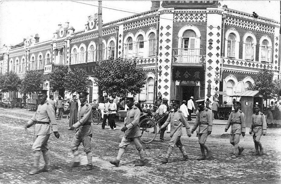 Маньчжурия. Харбин. Улица Новогородняя. 30-е годы ХХ-го века.