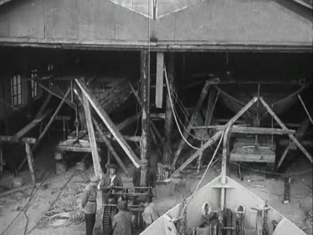 Судоверфь Дальстроя в бухте Нагаева. 1935 год.