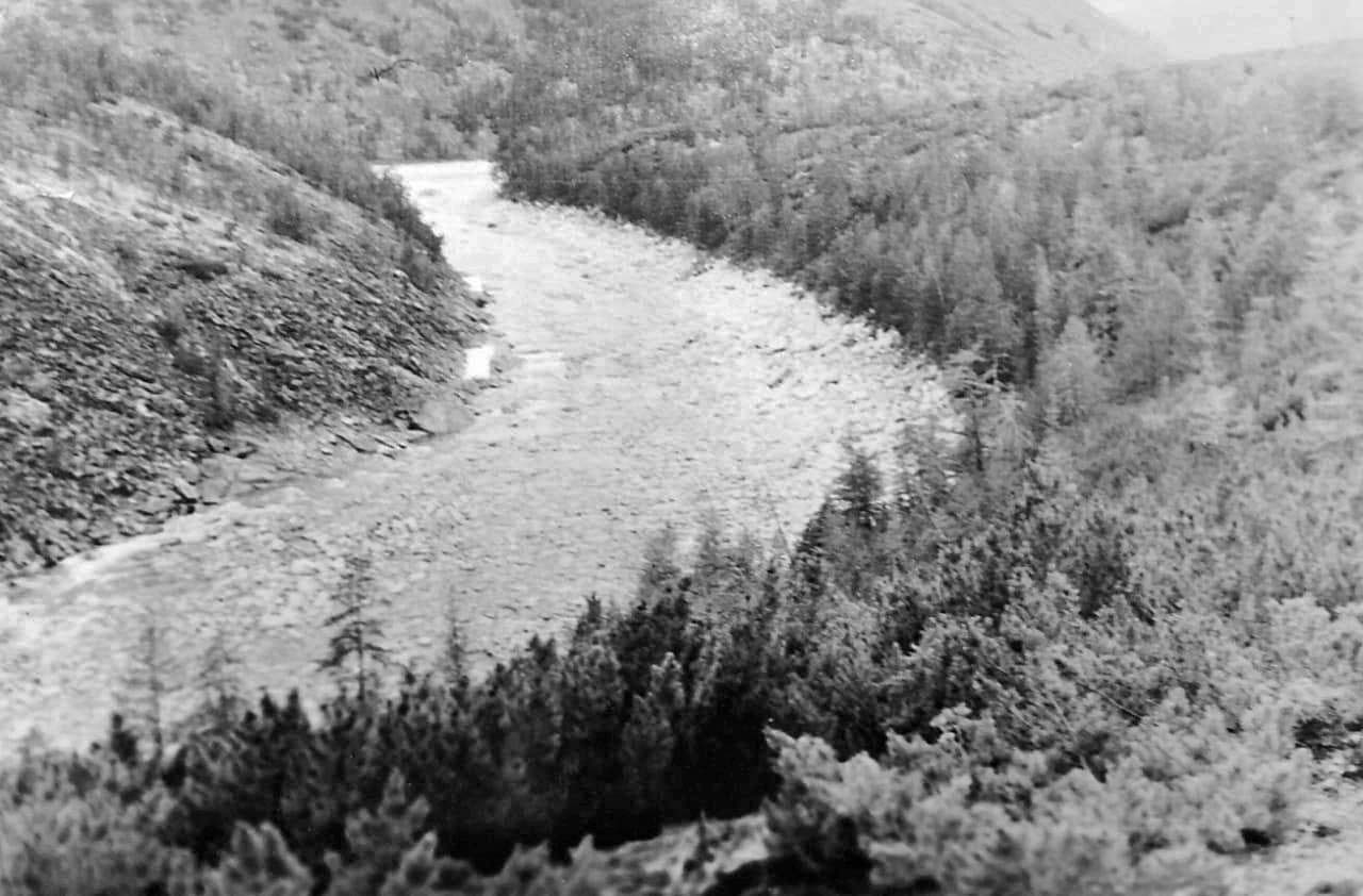 Эльгенья в верховьях. Течет по ущелью. Из архива Валерия Мусиенко.