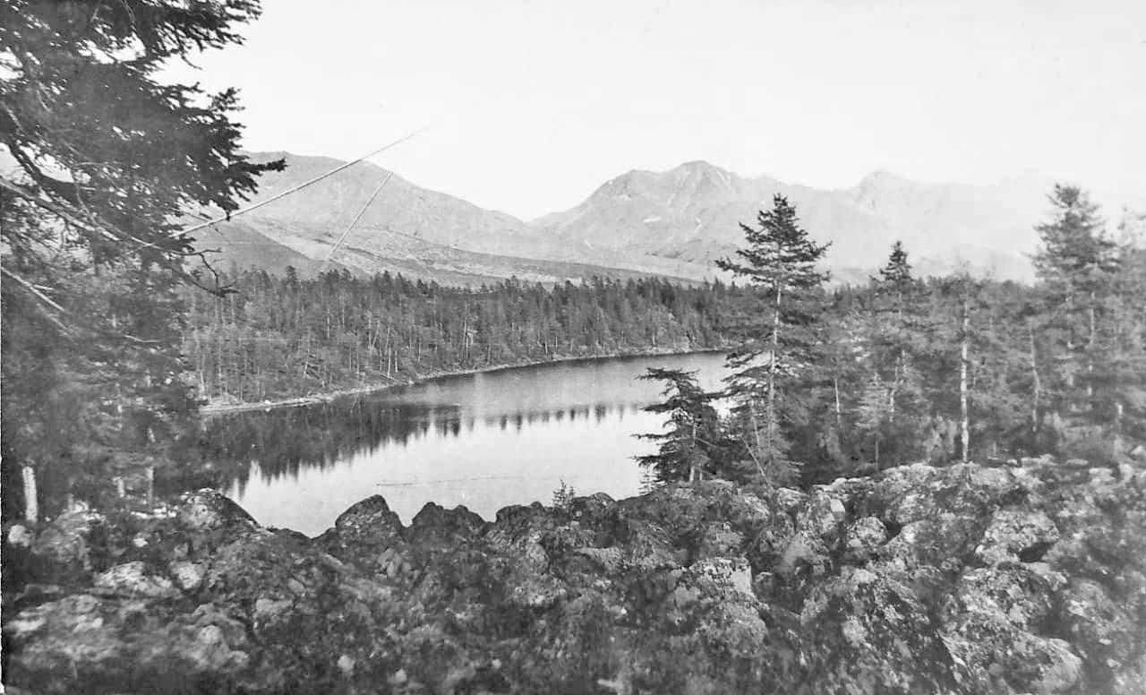 Третье озеро от Лебединого. От берега не спеша уплывает уточка, оставляя след на зеркале воды. Из архива Валерия Мусиенко.