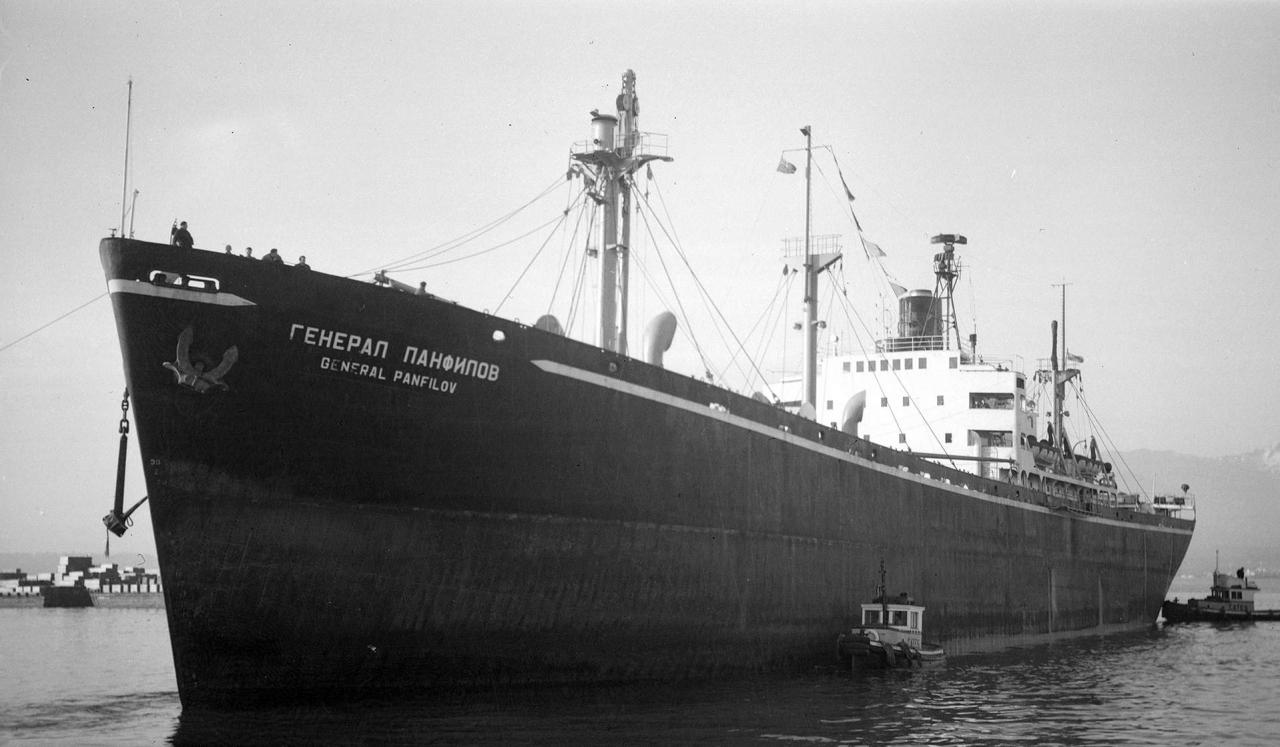 Однотипный пароход с «Генералом Ватутиным» - «Генерал Панфилов», тип «Liberty».