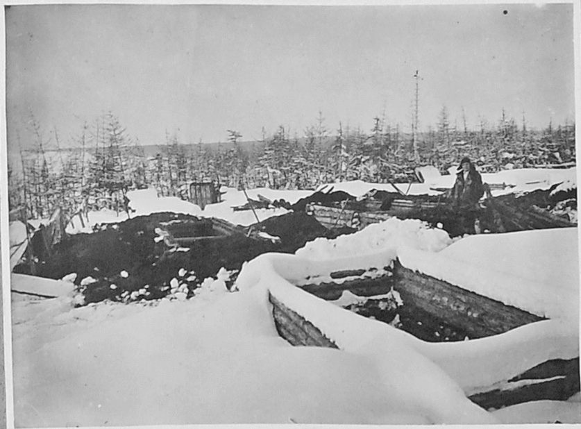 Подготовка углубленных парников. 1932 год.