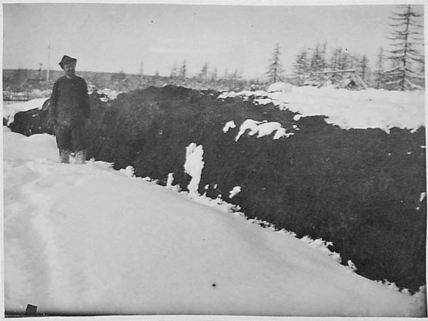 Приготовление навозного удобрения путем подогрева. 1932 год.