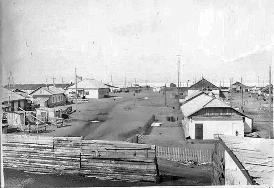 Посёлок Атарган, Ольский район, Магаданская область. 1972 год.