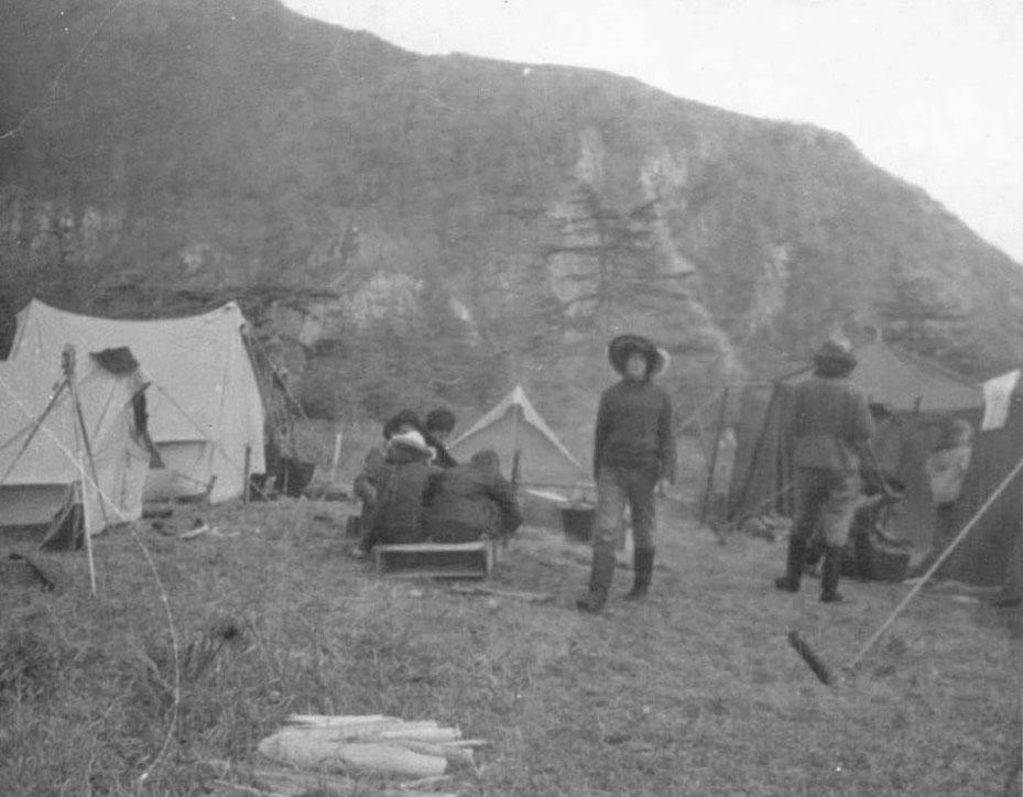 Палаточный городок археологической экспедиции из посёлка Ягодное. Фото из архива Наталья Ескиной (Липовской).