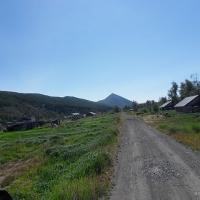 Село Меренга. Въезд на Меренгу.