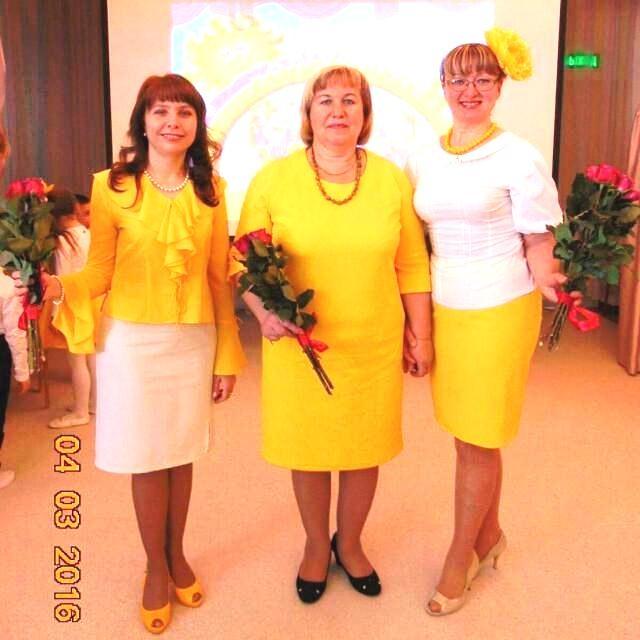 Блестящее трио педагогов.