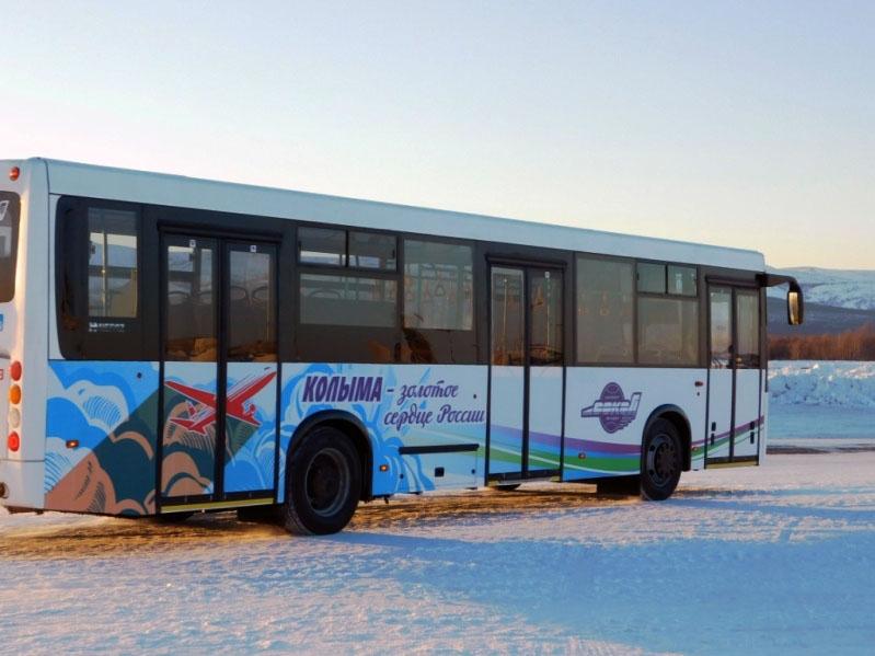 Новый перронный автобус.
