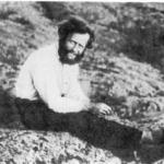На каменистом берегу реки Запятой. Ю.А. Билибин, 1929 г.