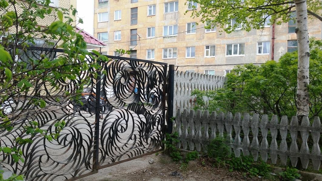 Кованые ворота дендрария.