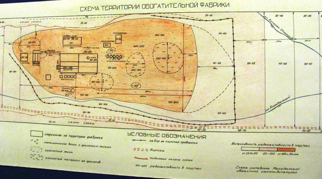 Схема территории обогатительной фабрики.