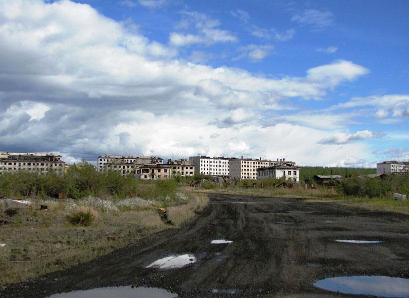 Въезд в Кадыкчан.