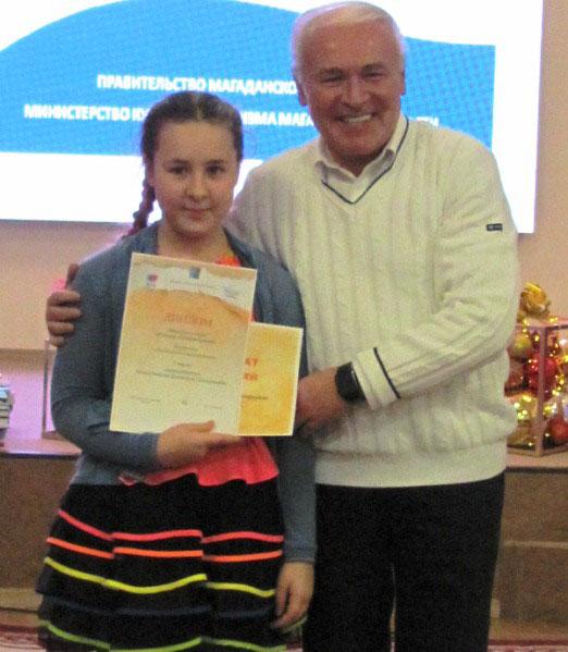 Победительница литературного конкурса Виктория Красноперова.