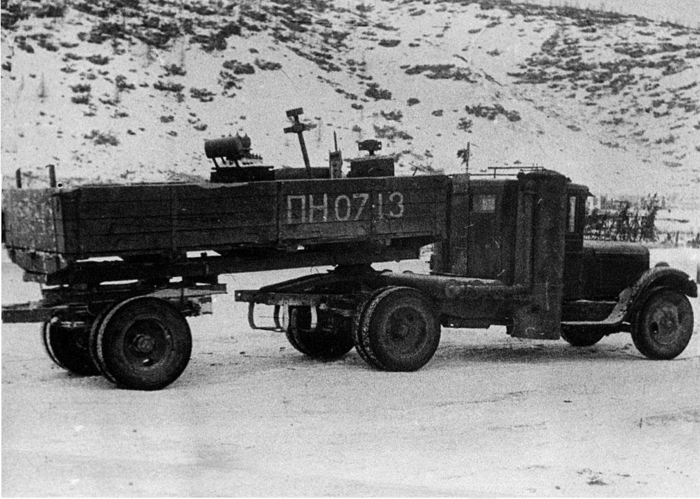 Колымская трасса. Газогенераторный автомобиль ЗИС-21. 1940 год.