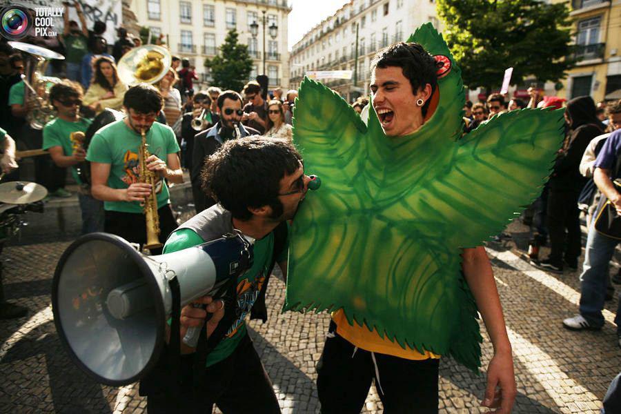 Всемирный конопляный марш, западная Европа.